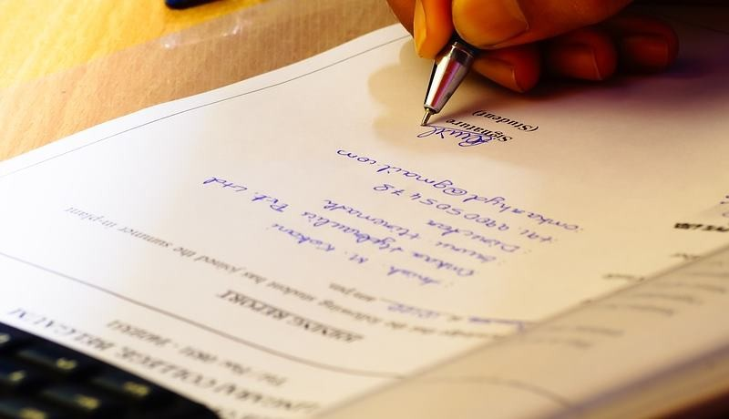 Sale agreement drafting and franking(optional) by HSM