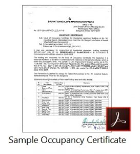 Importance of occupancy certificate for apartment buyers in occupancy certificate in bangalore yadclub Gallery